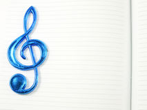 Music note on blank paper background Royalty Free Stock Image