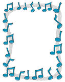 Music Note Border Stock Photos