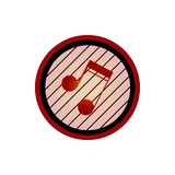 Music note border logo Royalty Free Stock Photo