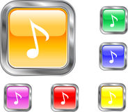 Music Note Button. This is an internet music note button Royalty Free Stock Photo
