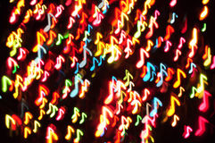 Music note on christmas light Royalty Free Stock Image