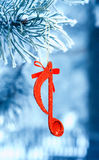 Music note,Christmass background Royalty Free Stock Photography