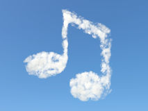 Music note from clouds Stock Image