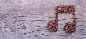 Music note of coffee beans Royalty Free Stock Photo