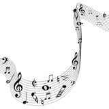 Music note design Stock Photography