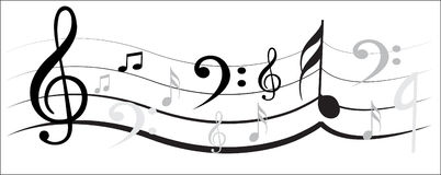 Music Note Design Stock Images