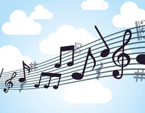 Music note design Royalty Free Stock Photography
