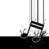 Music note fall down Royalty Free Stock Image
