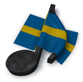 Music note and flag of sweden Royalty Free Stock Photo