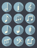 Music note flat design Stock Image