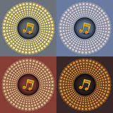 Music note on four diffrent Stock Images