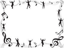 Music note frame with copyspace. The music note frame with copyspace Royalty Free Stock Image