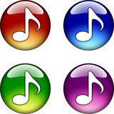 Music Note glossy button icon Royalty Free Stock Photos
