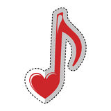 Music note with heart. Illustration design royalty free illustration