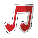 Music note with heart. Illustration design vector illustration