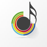 Music note Icon. Creative colorful style. Vector. Illustration Royalty Free Stock Photography