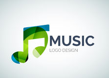 Music, note icon logo made of color pieces Royalty Free Stock Photography