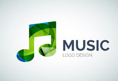 Music, note icon logo made of color pieces Stock Photos