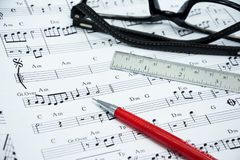 Music note for idea of song Stock Photography