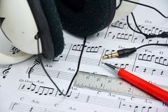Music note for idea of song Royalty Free Stock Images