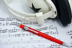 Music note for idea of song Stock Images