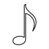 Music note isolated icon Stock Images