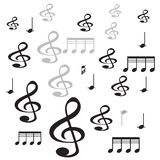 Music note ith white background royalty free illustration