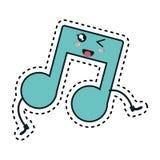 music note kawaii character Stock Image
