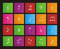 Music note - metro style icon sets Royalty Free Stock Photography