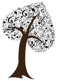 Music note with music tree Royalty Free Stock Photo