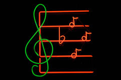 Music Note Neon Sign Royalty Free Stock Photography