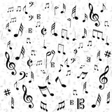 Music note page Royalty Free Stock Images