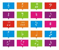Music note rectangle pointers Royalty Free Stock Photo