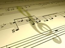 Free Music Note Shadow Stock Photo - 35544160