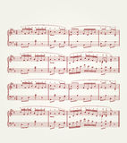 Music note sheet Royalty Free Stock Image