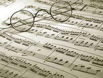 Music note sheet Royalty Free Stock Images