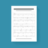 Music Note Sheet Compose Song Icon Illustration Vector stock illustration
