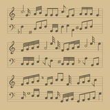 Music Note Sheet Pattern. Vector Stock Photography