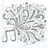 Music Note Sketchy Notebook Doodle Vector Illustra Royalty Free Stock Images