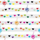 Music note sound texture Stock Images