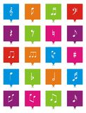 Music note square pointers Stock Photo