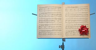 Music note stand. Copy space and Close up of music note stand stock images