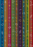 Music Note Stripe Curtain Background_eps Stock Photo