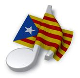 Music note symbol symbol and flag of catalonia Stock Photo