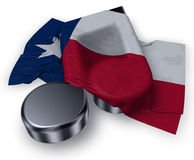 Music note symbol and flag of texas Royalty Free Stock Photography