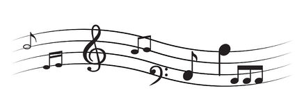 Music Note with symbols Royalty Free Stock Photo