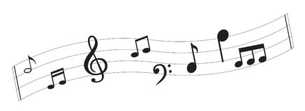 Music Note with symbols Stock Photography