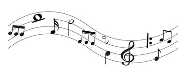 Music Note with symbols Stock Image