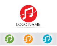 Music note symbols logo and icons template.  Stock Images