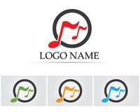 Music note symbols logo and icons template.  Royalty Free Stock Images